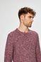 Sweter męski czerwony z melanżowego materiału
