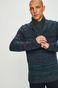 Sweter męski z zakładanym dekoltem