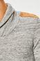 Sweter męski szary z efektownym dekoltem