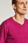 Sweter męski różowy ze spiczastym dekoltem