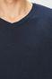 Sweter męski granatowy ze spiczastym dekoltem