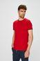 T-shirt męski slim czerwony gładki