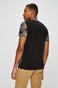 T-shirt męski czarny z nadrukiem