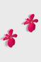 Kolczyki damskie w kształcie kwiatów różowe