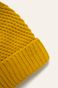 Czapka damska z pomponem żółta