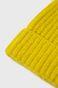 Czapka z wywijaną krawędzią żółta