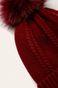 Czapka damska z pomponem czerwona