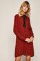Koszula damska z wzorzystej tkaniny czerwona
