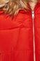 Kurtka damska z kapturem czerwona