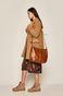 Płaszcz damski brązowy