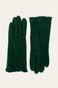 Rękawiczki damskie z falbanką zielone