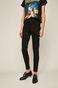 Jeansy damskie high waist czarne