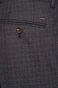 Spodnie męskie w kratkę granatowe