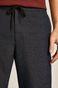 Spodnie męskie z troczkami w pasie granatowe