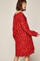 Sukienka damska w drobne kwiatki czerwona