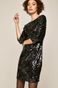 Sukienka damska z cekinami czarna