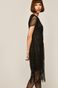 Sukienka damska z frędzlami czarna