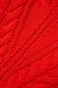 Sweter damski z warkoczowym splotem czerwony