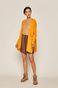 Sweter damski z rozcięciami żółty