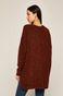 Sweter damski z rozcięciami bordowy