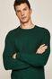 Sweter męski z okrągłym dekoltem zielony