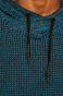 Sweter męski z podwyższonym kołnierzem niebieski
