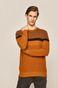 Sweter męski brązowy