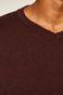 Sweter męski z dekoltem w serek bordowy