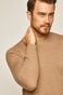 Sweter męski wełniany beżowy