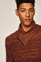 Sweter męski z podwyższonym kołnierzem brązowy
