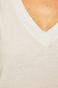 T-shirt damski ze spiczastym dekoltem biały