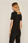 T-shirt damski ze spiczastym dekoltem czarny