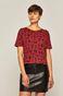 T-shirt damski by Weronika Kolinska bordowy