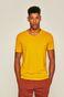 T-shirt męski ze spiczastym dekoltem żółty