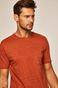 T-shirt męski z kieszonką pomarańczowy