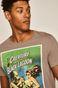 T-shirt męski z nadrukiem Iconic Movies szary