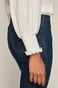 Bluzka damska z szerokimi rękawami biała