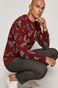 Bluza bawełniana męska Halloween bordowa