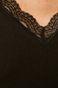 Longsleeve damski z koronkową wstawką czarny