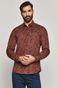 Koszula męska w drobny wzór bordowa