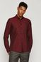 Koszula męska regular bawełniana bordowa