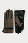 Rękawiczki damskie w pepitkę z ozdobnym elementem
