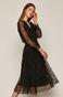 Sukienka damska tiulowa czarna