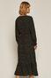 Sukienka damska z falbanka w grochy czarna
