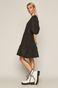 Sukienka damska z bufiastymi rękawkami czarna