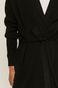 Kardigan damski wiązany w talii czarny