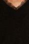 Sweter damski z koronką czarny