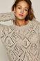 Sweter damski ażurowy szary