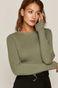 Sweter damski zielony