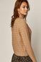 Sweter damski z półgolfem brązowy